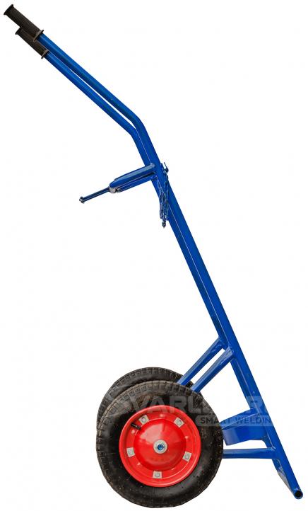 Тележка для ацетиленового поста ПГУ-40А на пневматических колесах преодолеет любое строительное бездорожье
