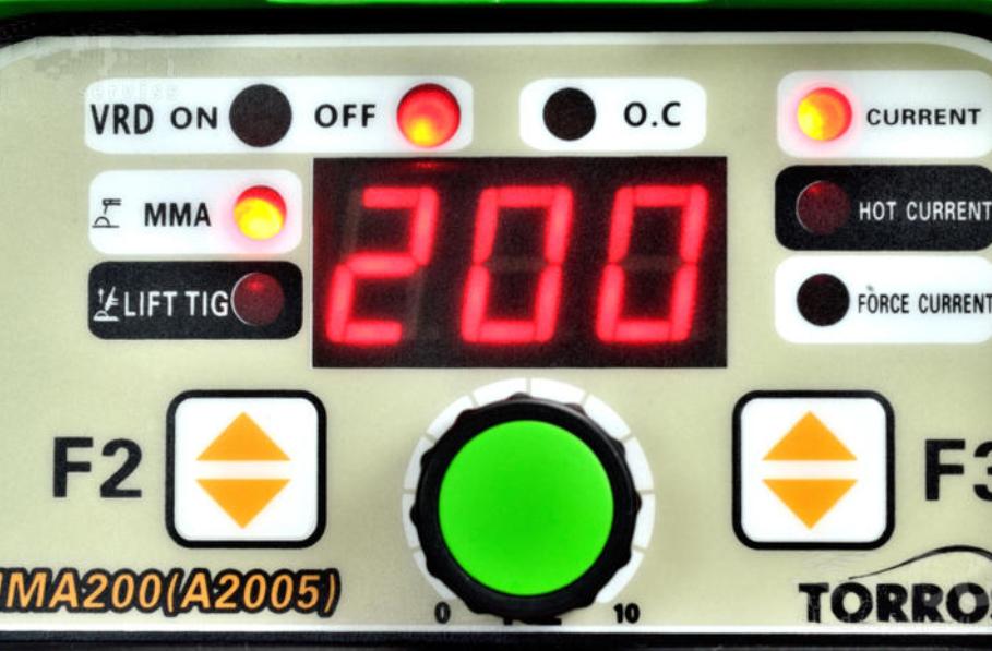 Лицевая панель сварочного инвертора Torros MMA-200 (A2005)