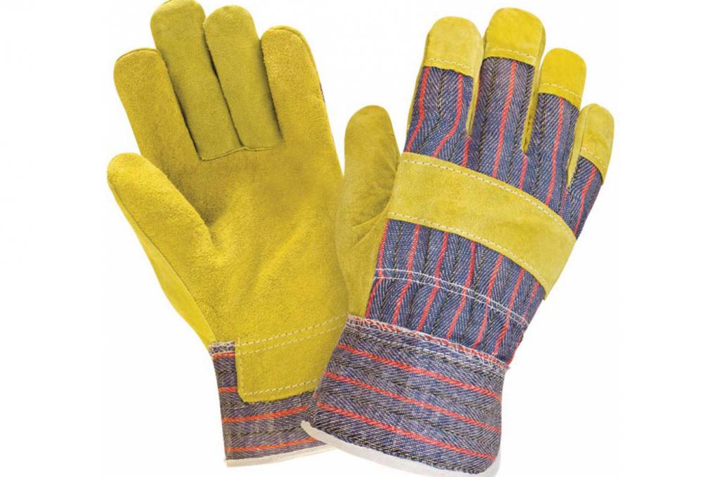 Защитные перчатки комбинированные спилковые